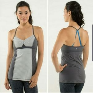 Lululemon bend and flow striped strappy tank top…